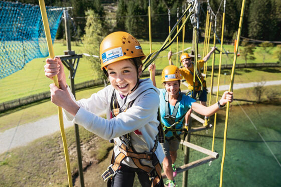 Family holidays including childcare from 1 year at the Hotel Felsenhof in Flachau