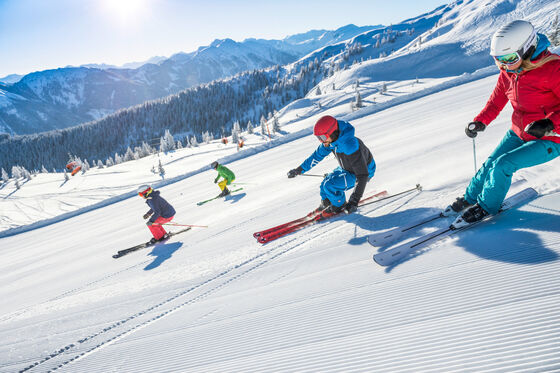 Skiing at Hotel Felsenhof in Flachau